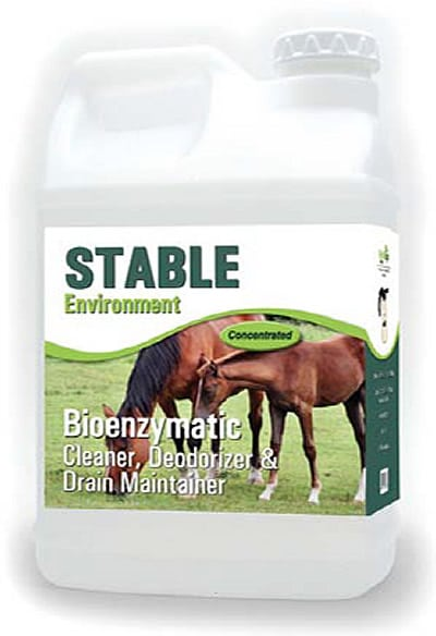 STABLE Environment Bioenzymatic Cleaner, Deodorizer & Drain Maintainer – (4) 1 gallon EZ Store Bottles
