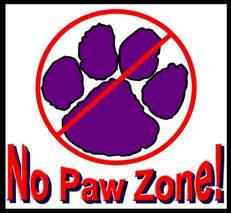 No Paws Zone