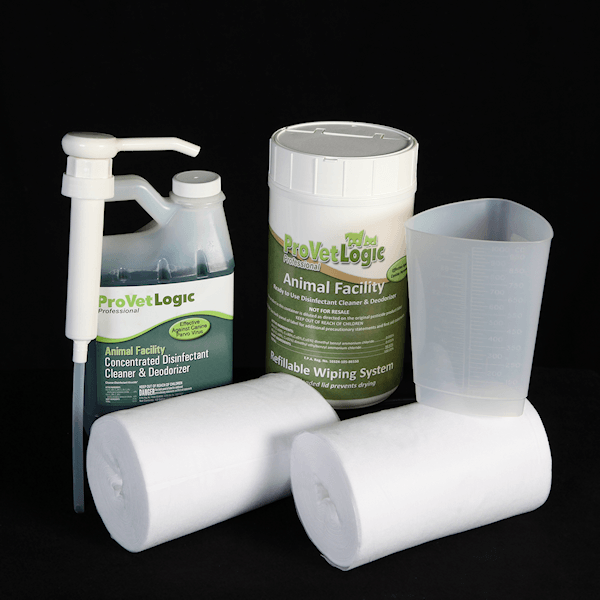Animal Facility Disinfectant Refillable Wiping Starter Kit
