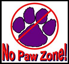 No Paws Zone