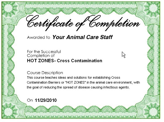 Online Training Certificate