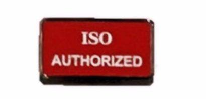 ISO Authorized Badge