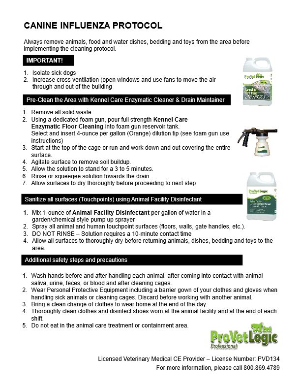 Canine Influenza Protocol