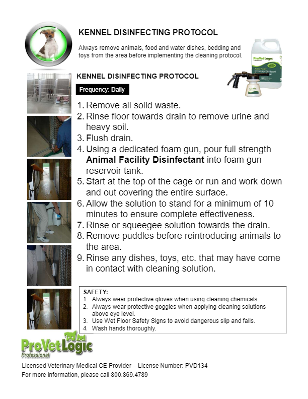 Kennel Disinfecting Protocol