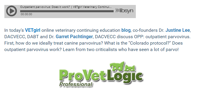 ProVetLogic Sponsors The VETgirl Podcast