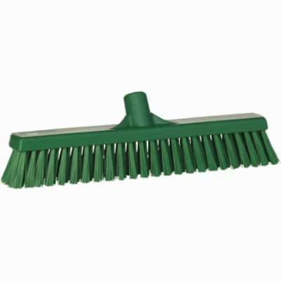 Broom, Push, Stiff Bristle-Green