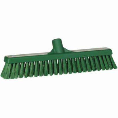 Broom, Push, Stiff Bristle-Green