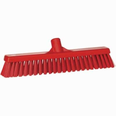 Broom, Push, Stiff Bristle Red