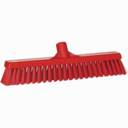 Broom, Push, Stiff Bristle Red