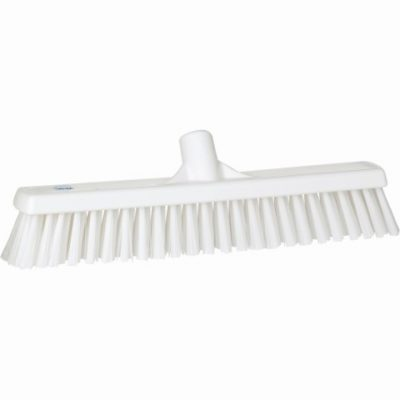 Broom, Push, Stiff Bristle White