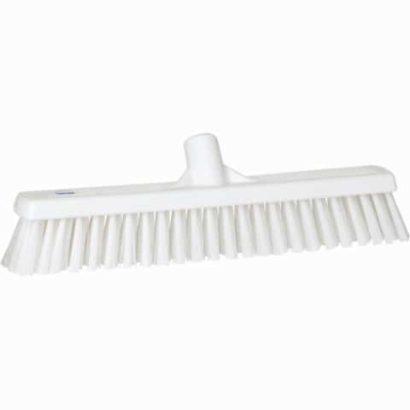 Broom, Push, Stiff Bristle White
