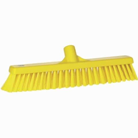 Broom, Push, Stiff Bristle Yellow