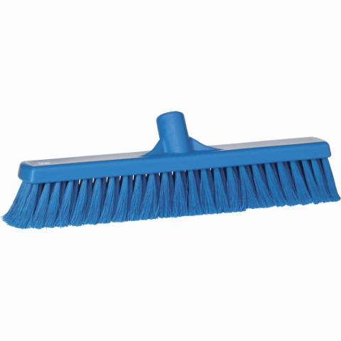 Broom, Push, Stiff Bristle-Blue