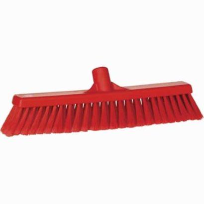 Broom, Push, Soft Bristle Red