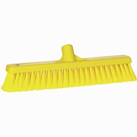 Broom, Push, Soft Bristle Yellow