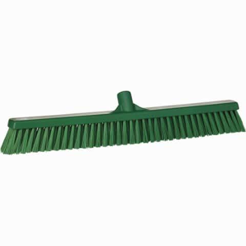 Broom, Push, Stiff Bristle Green