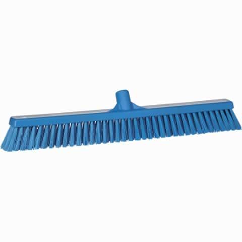 Broom, Push, Stiff Bristle Blue
