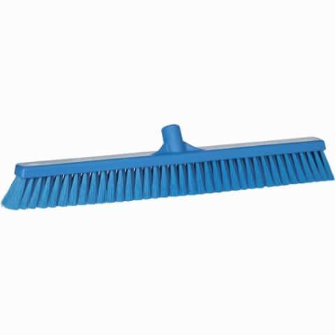 Broom, Push, Soft Bristle Blue 24 Inch