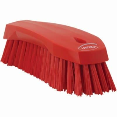 Brush, Hand Scrub, Stiff Bristle Red