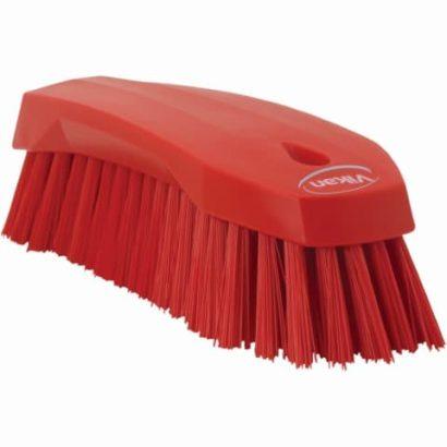 Brush, Hand Scrub, Stiff Bristle Red