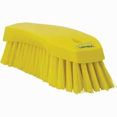 Brush, Hand Scrub, Stiff Bristle Yellow