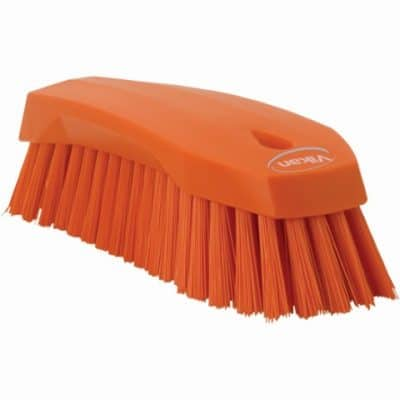 Brush, Hand Scrub, Stiff Bristle Orange