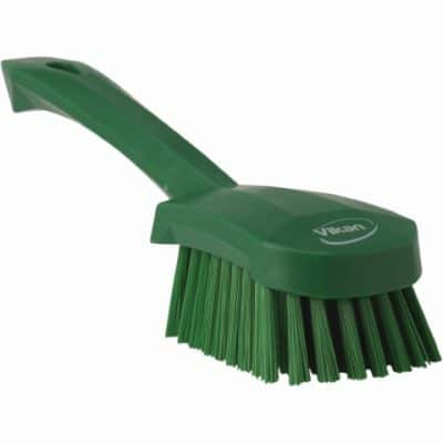 Brush, Short Handle, Soft Bristle Green