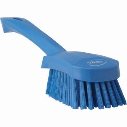 Brush, Short Handle, Soft Bristle Blue