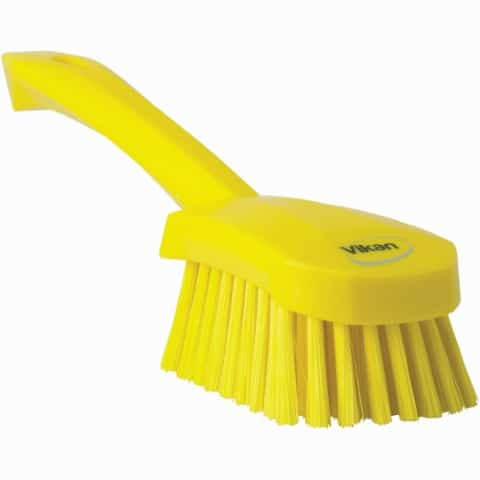 Brush, Short Handle, Soft Bristle Yellow