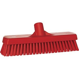 Brush, Deck, Stiff Bristle Red