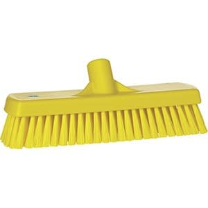 Brush, Deck, Stiff Bristle Yellow