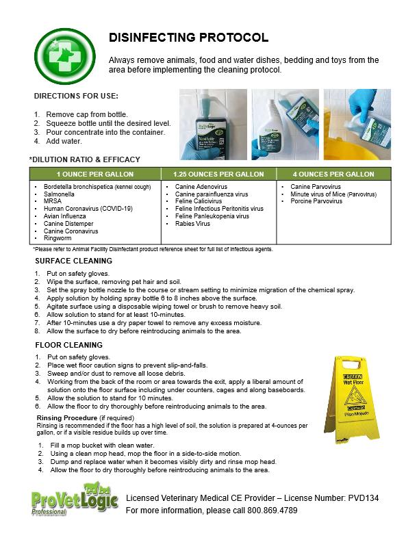 Disinfecting Protocol